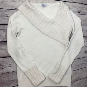 'Winter White' Long Sleeve Sweater